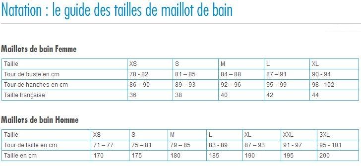 Maillot 2quivalence Taille Bain Homme De SzVpqULMGj