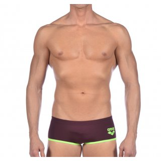 94bde5c497b31 Maillot de bain Arena Homme Biglogo Low Waist Short Red Wine Shiny Green