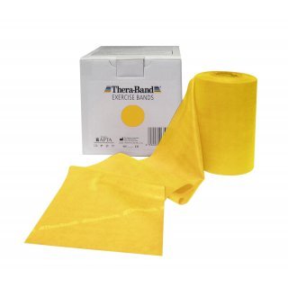 Renforcement Musculaire Thera-Band BANDE LATEX 45.5m Jaune
