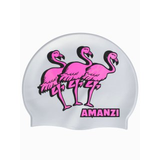 Bonnet Silicone de Natation Amanzi FLAMINGLE