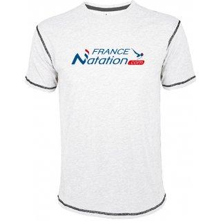 Tee Shirt Natation FRANAT Mustang Blanc
