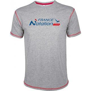 Tee Shirt Natation FRANAT Mustang Gris Chiné