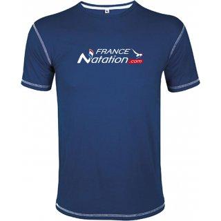Tee Shirt Natation FRANAT Mustang Bleu Marine