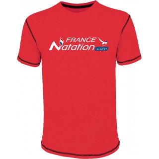 Tee Shirt Natation FRANAT Mustang Rouge