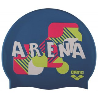 Bonnet Silicone de Natation Arena PRINT 2 Jasper Navy