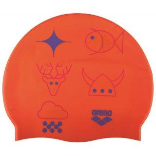 Bonnet Silicone de Natation Arena PRINT 2 OLEG Mango