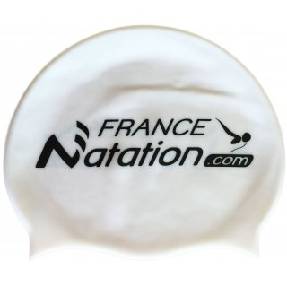 Bonnet de Natation Silicone FRANAT Blanc Perle