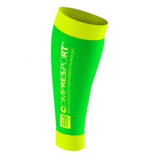Compression Sportive Compressport CALF R2 v2 Fluo Green