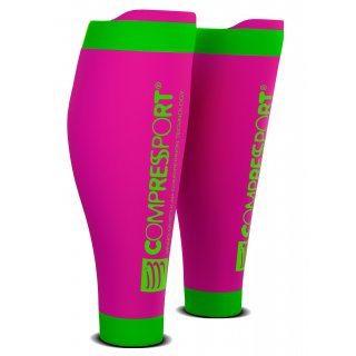 Compressport CALF R2 v2 Fluo Pink