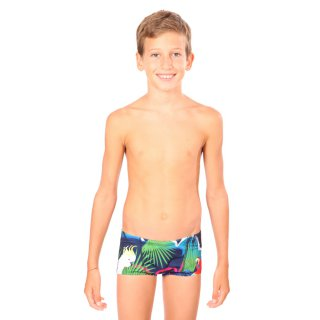265e3f1322 Maillot de bain natation Junior Garçon Mako Shorty Tropical Bleu